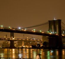 Brooklyn Bridge Lights by sandugo