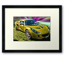 Golden Lotus Framed Print