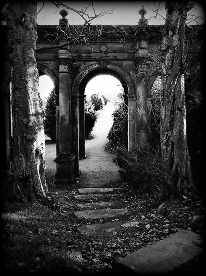 Archway at Trentham gardens, Staffordshire, UK. Summer 2000. by Steve Crompton