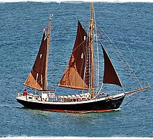 """ Sailing from Falmouth Harbour"" by mrcoradour"
