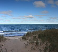 Sand Dunes on lake Superior by Megan Noble