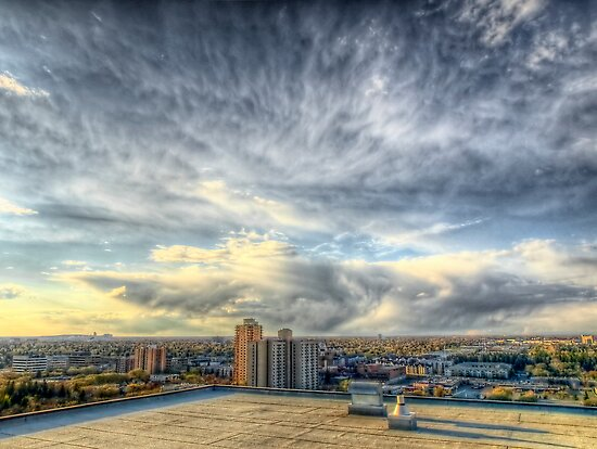 Edmonton From the Roof by Myron Watamaniuk