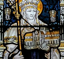 Stained glass window depicting Saint Hilda by ACSPhoto