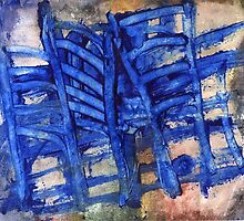 blue chairs by agnès trachet