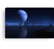 Down Home Alien Blue's Canvas Print