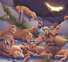 Daniel and the Lion's Den by jrutland