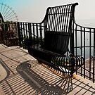 Positano Fence Bench by phil decocco