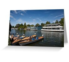 Hampton Houseboats Greeting Card