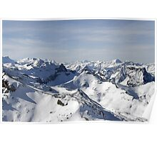 View from the Schilthorn Poster