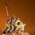 Iwo Jima monument at night by Heath Morrison