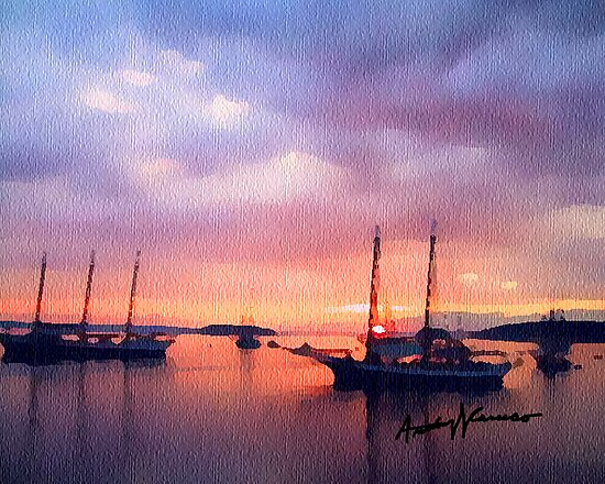 Harbor Art by anthonycaruso
