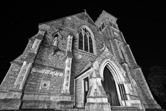 Liberty Church - Wide Angle Monochrome by AllshotsImaging