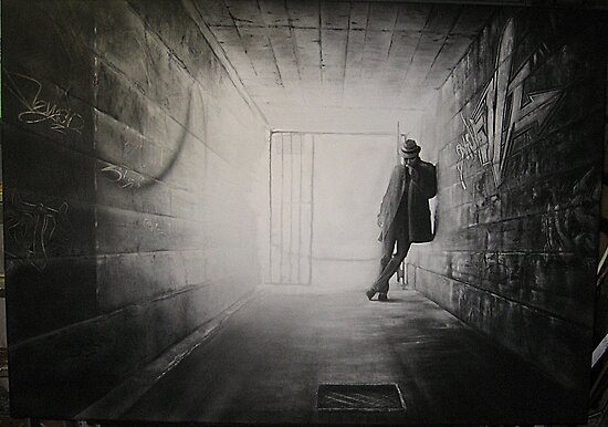 "I am going to call this piece  ""Justice""......this is the  charcoal stage.... by Warren Haney"