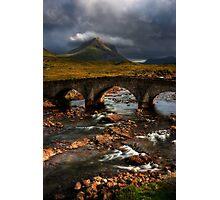 Marsco and the Old Bridge at Sligachan, Isle of Skye. Scotland. Photographic Print