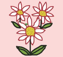 RED DAISIES    T SHIRT by Shoshonan