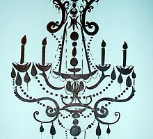 Tiffany Blue Chandelier by lauraelizabethm