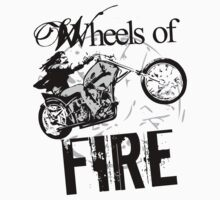 Wheels of Fire Biker T-Shirt by jay007