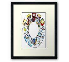 CIRCLE OF TAROT BY LIZ LOZ Framed Print