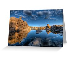 Rocks and Water and Clouds...Oh my Greeting Card