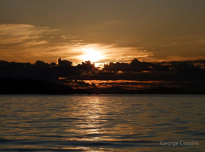 Pender Island Sunset by George Cousins