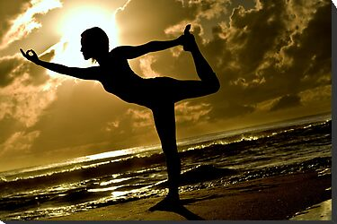Dancer Pose Silhouette by bradlentz-photo