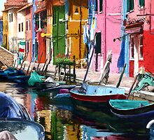 Burano Colours, Italy by sirthomas1960