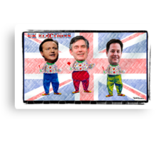 UK Election Special:-) Which Clown will you be voting for tomorrow??? LOL Canvas Print