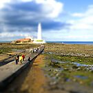 St. Marys Island, Whitley Bay by Di Mellors
