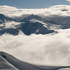 Low clouds and mountains by russw