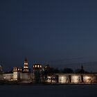 Novodevichy Convent at night by offwhitedog