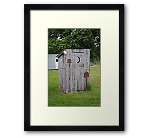 Route 66 OutHouse Framed Print