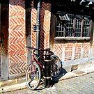 Lonely bicyle in York by patjila