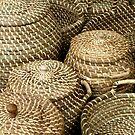Baskets on market Kampen Netherlands by patjila