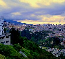 Dusk In Quito by Al Bourassa