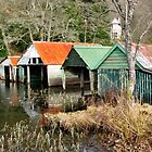 Loch Ard Boathouses by Fe Messenger