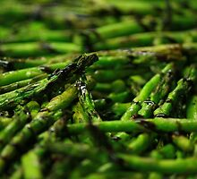 Grilled Asparagus w/ Balsamic Glaze by molicophoto