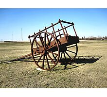 Red River Cart Photographic Print