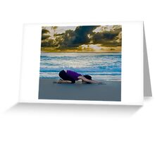 Beach Childs pose Greeting Card