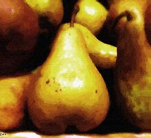 Plate of Mottled Pears by RC deWinter