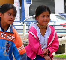 Children of Otavalo, Ecuador by Al Bourassa
