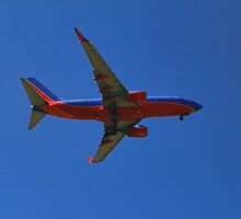 Plane coming in to land by happyphotos