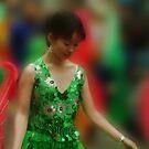 The Green Satin Dress by Linda Cutche