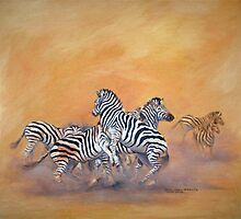 Study of Zebras by Santamaria