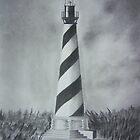 The Cape Hatteras Lighthouse by Debbie  Adams