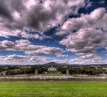 Clouds Over The Memorial - Looking towards the Australian War Memorial by dahon