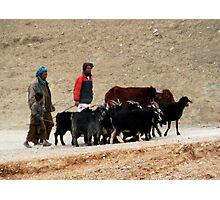 Shepherds (Afghanistan) Photographic Print