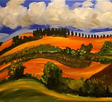 Italian Countryside. Acrylic Painting. by csoccio100
