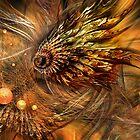 Flight of the autumn peacock by Evgeniya Sharp
