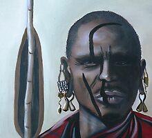 Masai Herdsman by Kim Steinberg