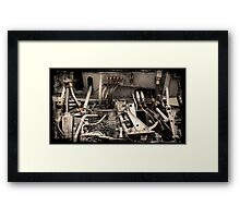 Aircraft Engine Detail Framed Print